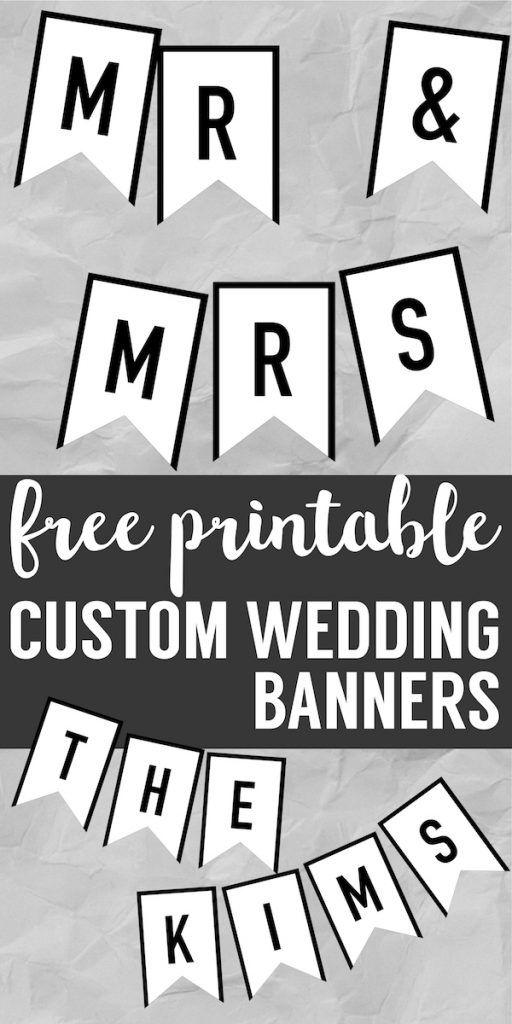 Banner Templates Free Printable ABC Letters | DIY Wedding