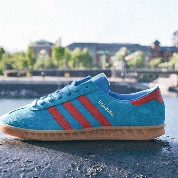 adidas hamburg red and blue