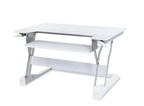 Ergotron WorkFit-T Sit-Stand Desktop Workstation - Aufstellung für LCD-Display/Tastatur/Maus/Notebook - weiß, 33-397-062
