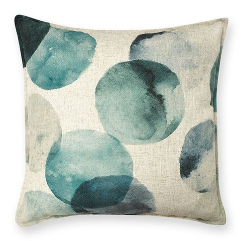 Aquaria Teal Cushion 50 cm cotton green blue shade