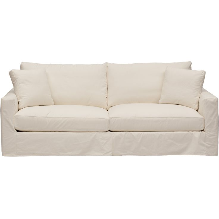 Leather Sofas The clean track arm sofa exudes a sophistication that belies the blissful fort of white goose down seat
