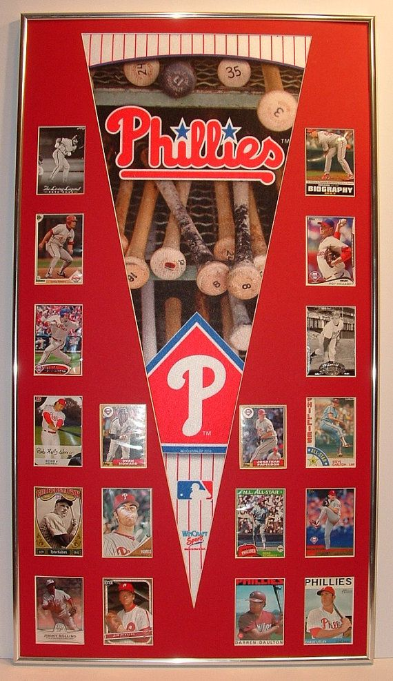 Philadelphia Phillies Baseball Pennant & Cards by FanaticFrames