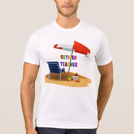 Retired Teacher, Beach Scene T-Shirt - click to get yours right now!