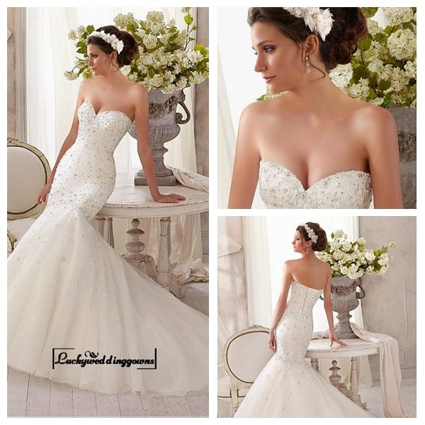 Alluring Tulle Sweetheart Neckline Natural Waistline Mermaid Wedding Dress http://www.ckdress.com/alluring-tulle-sweetheart-neckline-natural-waistline-mermaid-wedding-dress-p-1555.html  #wedding #dresses #party #Luckyweddinggown #Luckywedding #design #style #weddingdresses #bridaldresses #love #me #cute #beautiful #girl #shopping #lovely #clothes #instagood #follow #fashion