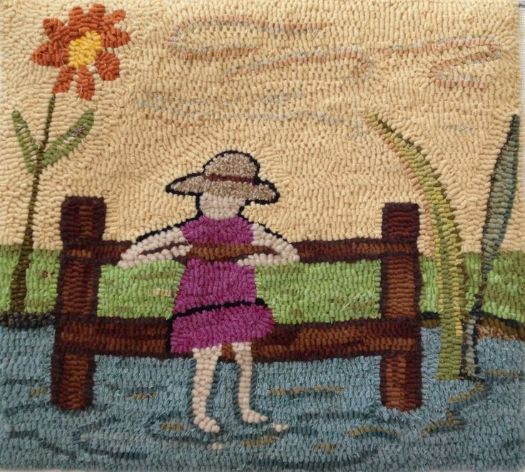 The Day Dreamer Pattern PDF for Rug Hooking and Punch needle embroidery by paigedesigns on Etsy