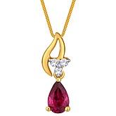 G Divas 18KY Gold Pendant With 0.04CT Diamonds