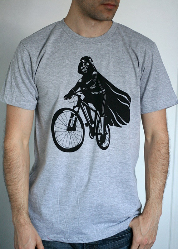 Darth Vader is Riding It  Mens shirt / Unisex shirt by ironspider, $23.00