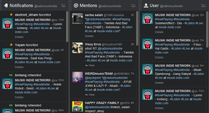 Twitter Musik Indie Network