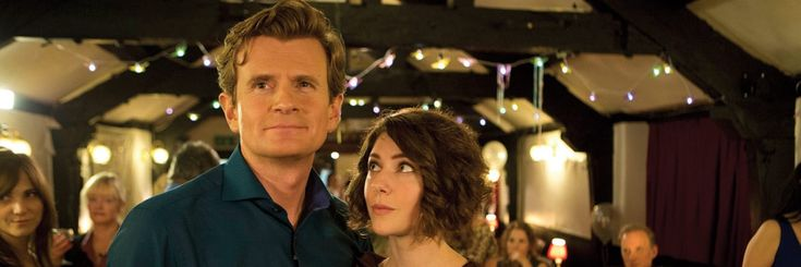 Catherine Steadman (Mabel Lane Fox) with another DA veteran, Charles Edwards (Michael Gregson) in an eight-episode comedy TV series called Trying Again (2014).
