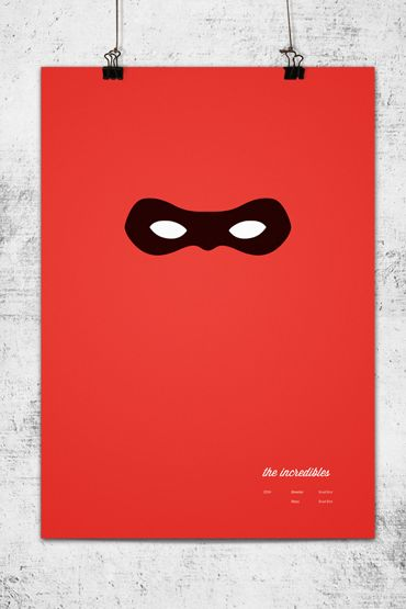 Minimalist posters of Pixar's movies | The Incredibles