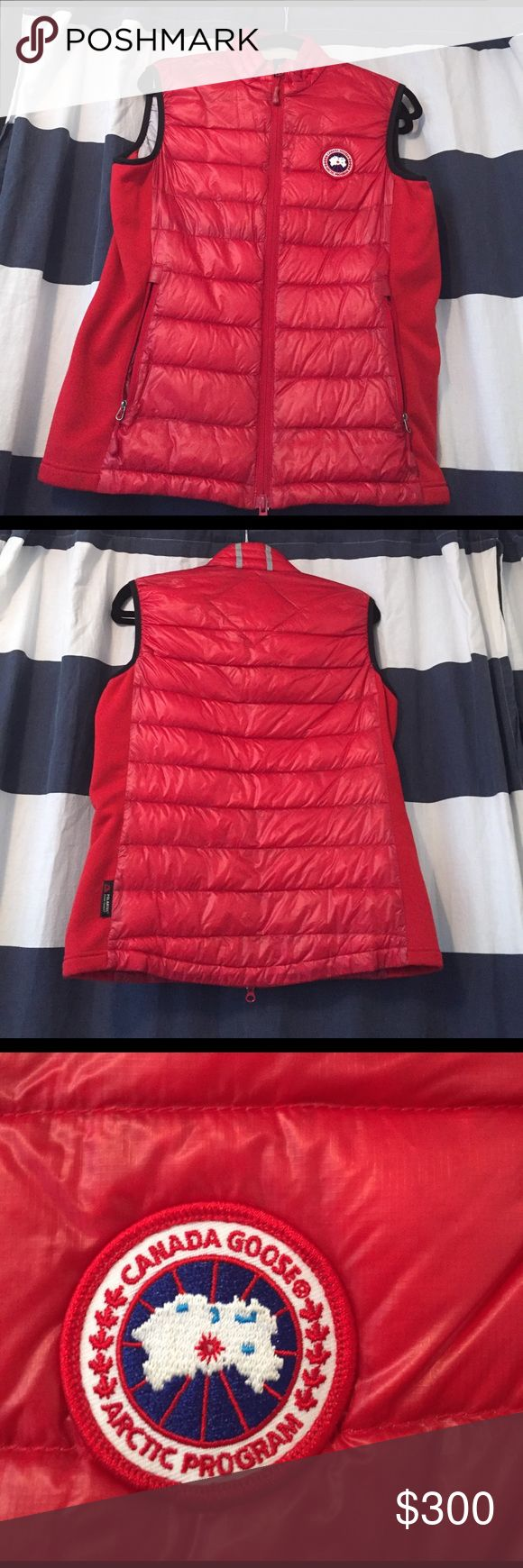 Canada goose down red vest MAKE AN OFFER / CHECK OUT MY OTHER ITEMS FOR BUNDLES!! Authentic Canada goose down vest. Amazing and very warm! Canada Goose Jackets & Coats Vests