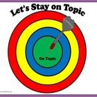 Free! Let's Stay on Topic!  bullseye and  it's detachable darts to facilitate discussion about topic maintenance. Designed for the student who has pragmatic language difficulties