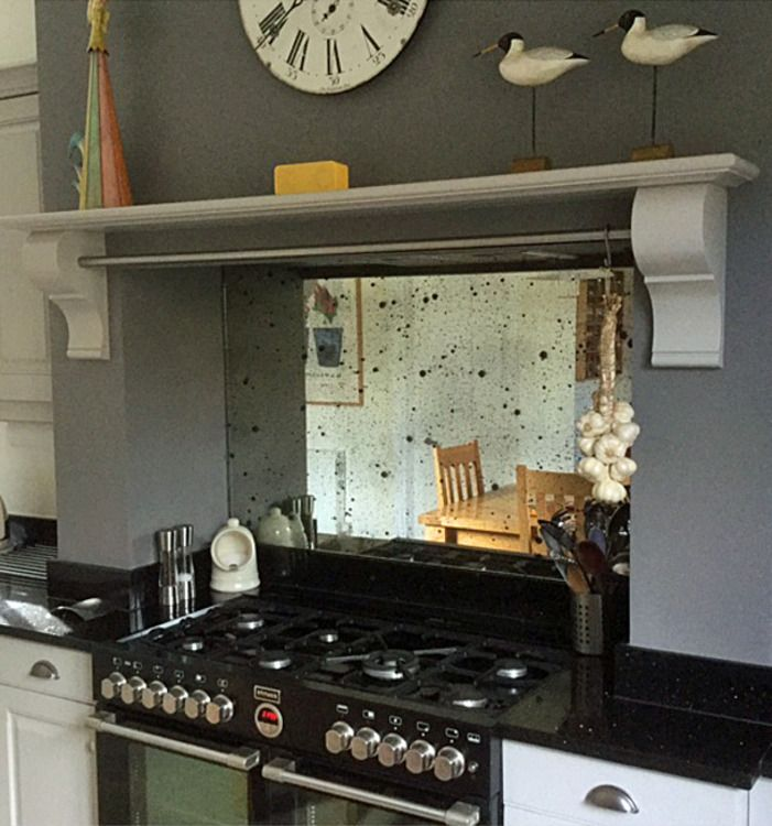 Vintage Sparkle Antique Mirror Splashback Mirror Splashbackmirror Backsplashsplashback Ideaspainted Kitchen