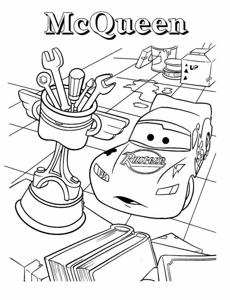 25 best Coloring pages cars images on Pinterest Coloring books - best of mcqueen coloring pages