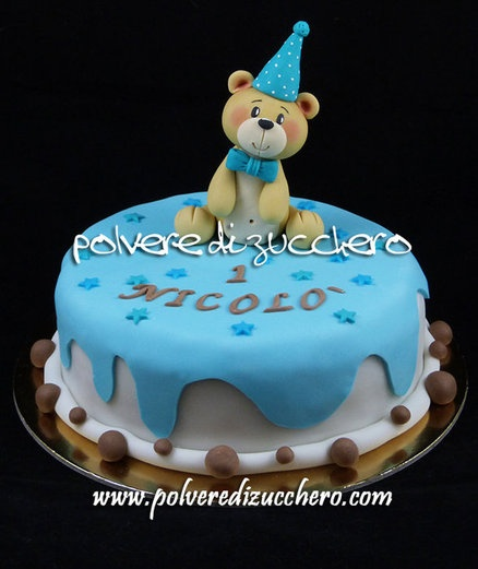 a sweet teddy bear  Cake by PolverediZucchero