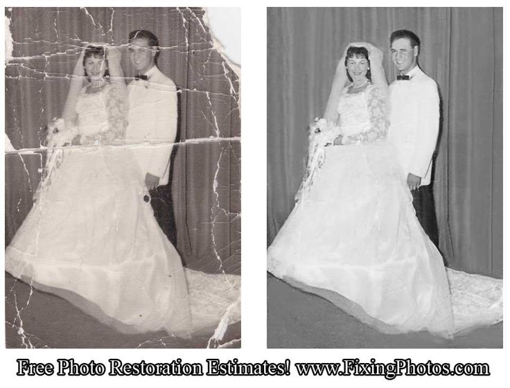 Photo repair service can restore photos of your favorite romantic moments or wedding photos! http://www.fixingphotos.com/ #photoretouching #giftideas #photorestoration