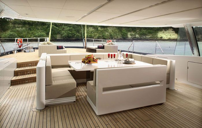 Featured. Brown Wooden Decks for Indoor and Outdoor Design: Luxurious Wooden Deck Indoor Outdoor Red Dragon Yacht Design At The Ship Decks With Contemporary Blueprint Ideas ~ wegli