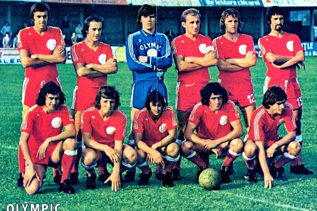 Olympique de Montignies of Belgium team group in 1974-75.