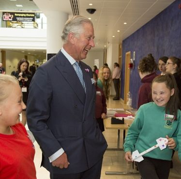 Finmeccanica - Selex ES: The Duke of Rothesay visited an engineering event for girls in Edinburgh to mark National Women in Engineering Day