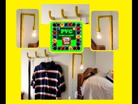 Ganchos de parede e Luz de Leitura de tubo pvc
