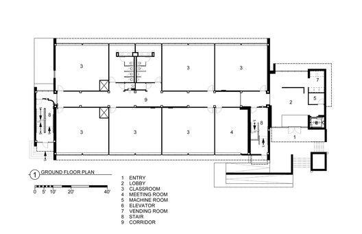 Fleck Hall,Ground Floor Plan