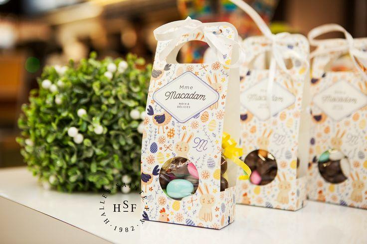 Cadeau d'hôte parfait : coffret amandes au chocolat.