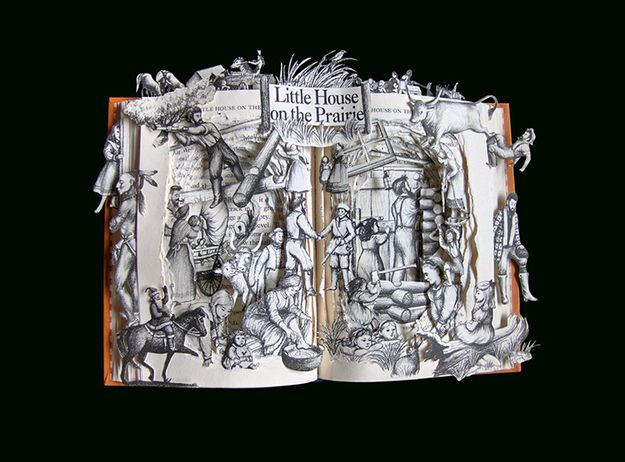 This Is The Fanciest Book Art You'll See Today [Little House on the Prairie...this was my childhood. -jl-]