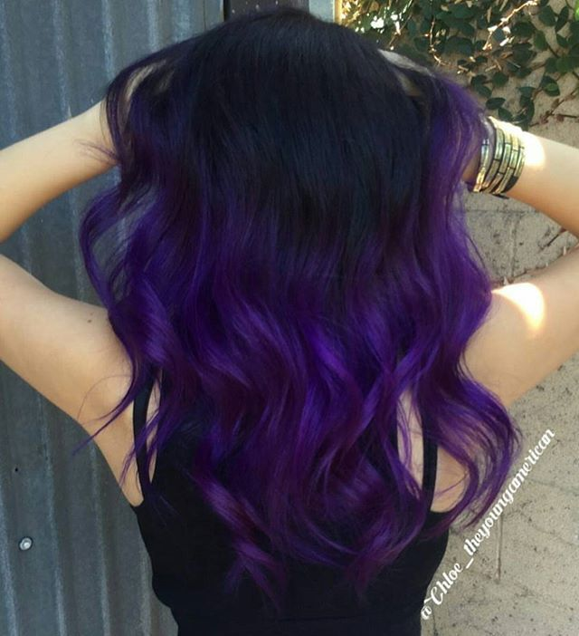 Purple Shade ... by @chloe_theyoungamerican #colormelt #behindthechair #purplehair