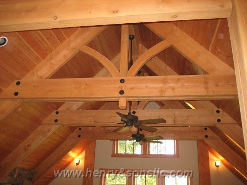 24 best images about trusses on pinterest for Exposed roof trusses images