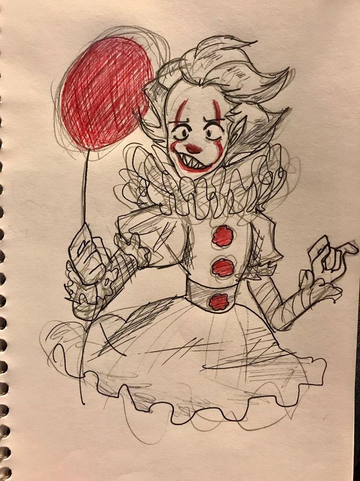 Картинки для срисовки девочки клоуны