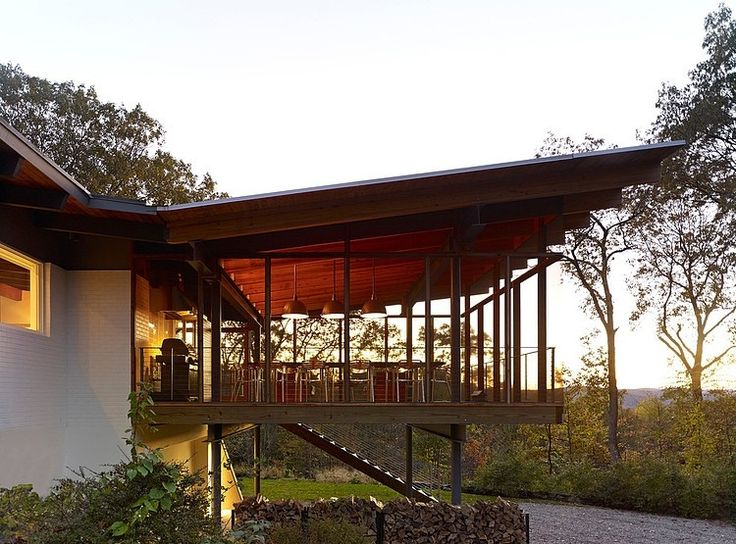 New Milford, Connecticut contemporary residence built in 1968 completely redesigned by Billinkoff Architecture