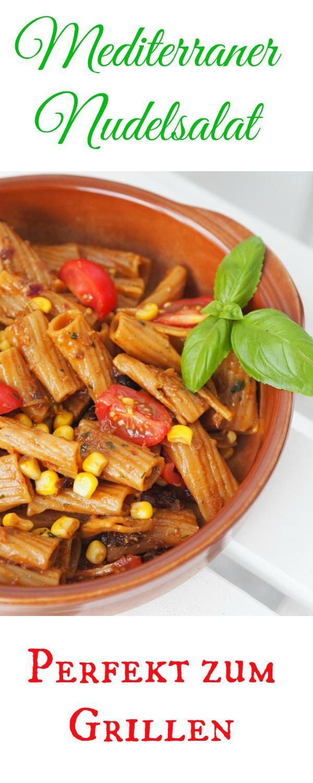 Ein leckerer sommerlicher, mediterraner Nudelsalat mit ganz viel Balsamico und getrockneten Tomaten darf auf keinem Grilltisch fehlen. Grillen ohne Salat geht gar nicht. Im Thermomix ist das Dressing ganz schnell hergestellt. Es darf gegrillt werden…! Veganer lassen einfach den Parmesan weg.