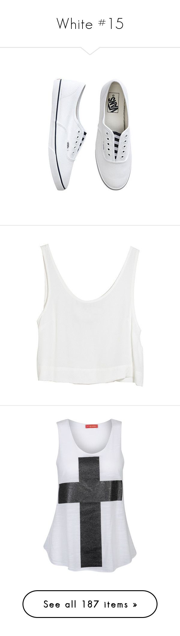 """""""White #15"""" by booknerd1326 ❤ liked on Polyvore featuring shoes, sneakers, vans, flats, zapatos, girlsfootwearshoes, vans shoes, slip on flats, treads shoes and slip on trainers"""