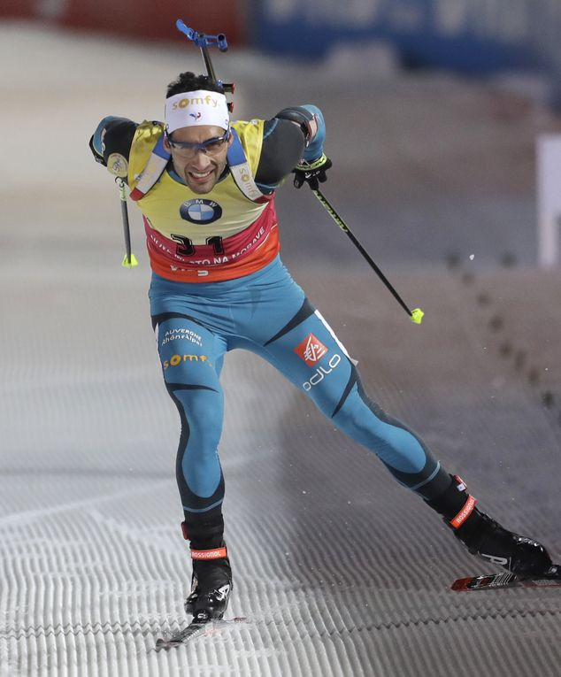 December 16 2016 - Martin Fourcade becomes the first man to win three Biathlon World Cup sprints in December