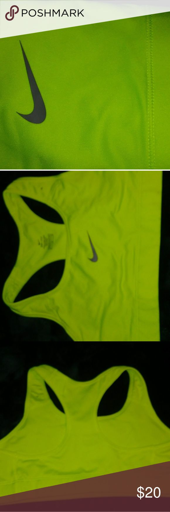 Nike Sports Bra Neon Green Sports Bra New But The Tags Fell Off See Pic Above Nike Intimates & Sleepwear Bras