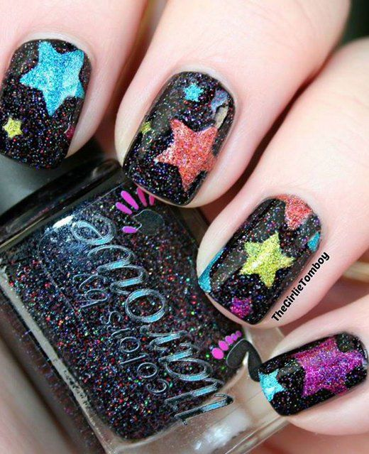 17 Stunning Star Nail Designs for Fashionistas: #6. Stylish Star Nail Design - The 25+ Best Star Nail Designs Ideas On Pinterest Star Nail Art
