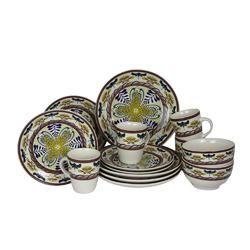Elama Countryside Sunrise 16pc Stoneware Dinnerware Set  #candles #beautiful #shopaholic #missisthings #decor #home
