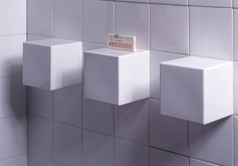 white tile square box