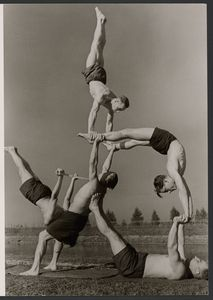 itle: [Gymnasts]  Artist/Maker(s): Paul Wolff (German, 1887 - 1951)  Dr. Wolff & Tritschler OHG (German, 1927 - 1963)  Culture: German  Place(s): Germany (Place created)  Date: 1934 - 1945