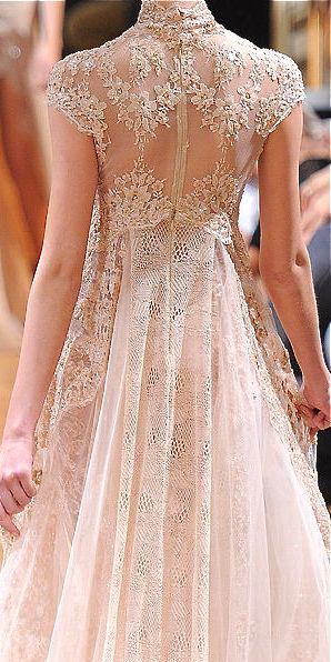 Cool idea for veil or train- Zuhair Murad wedding dress