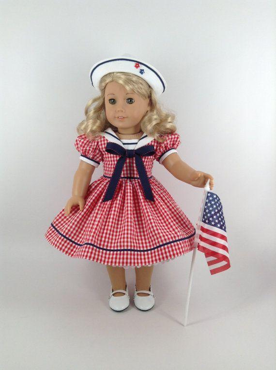 Vêtements pour poupée de 18 pouces American Girl par HFDollBoutique                                                                                                                                                                                 Plus