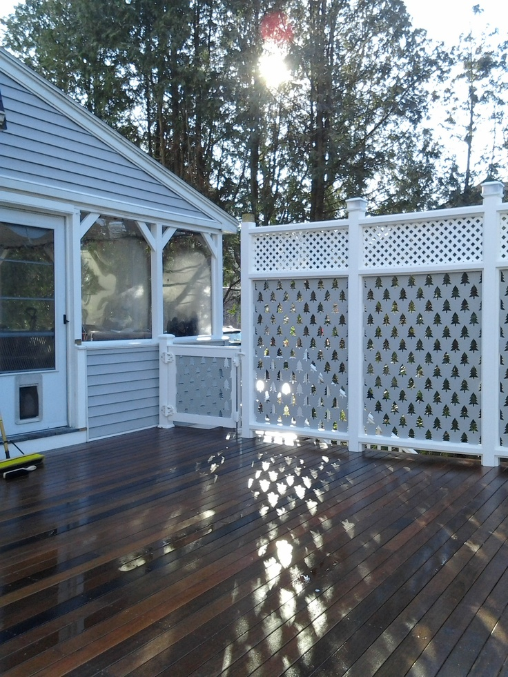 You can spice up privacy panels for an outdoor space with for Lattice screen panels outdoor