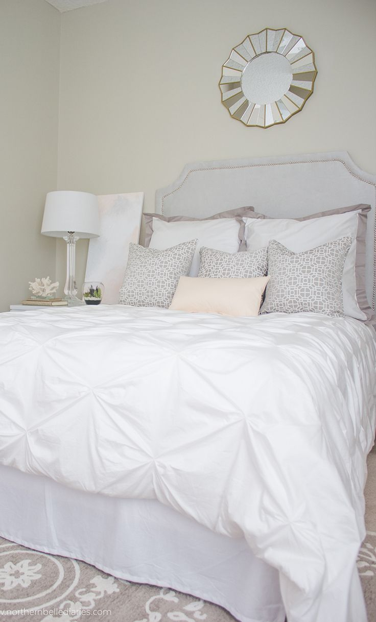 Bed sheets designs white - Sleep On A Cloud On White Bedding Stunning Bedroom With The Valencia Pintuck Duvet Cover