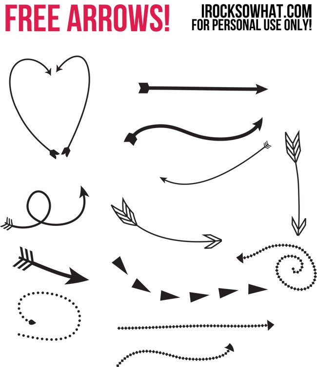 IROCKSOWHAT: FREE PHOTOSHOP ARROWS and a TUTORIAL on how to use them! Love these!