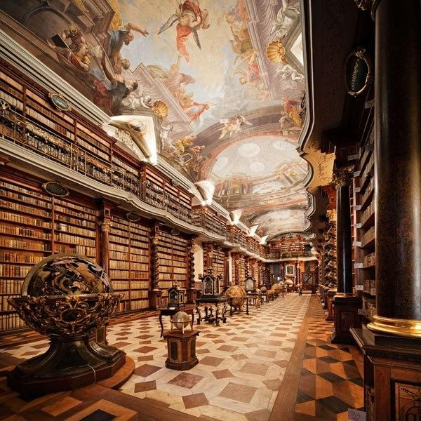 Prague, Home of the National Library of the Czech Republic, the Clementinum is housed in a series of historic buildings dating from the 11th century.