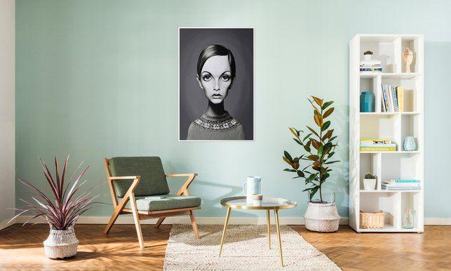 Twiggy - Rob Snow | Creative - Premium Poster art | decor | wall art | inspiration | caricature | home decor | idea | humor | gifts