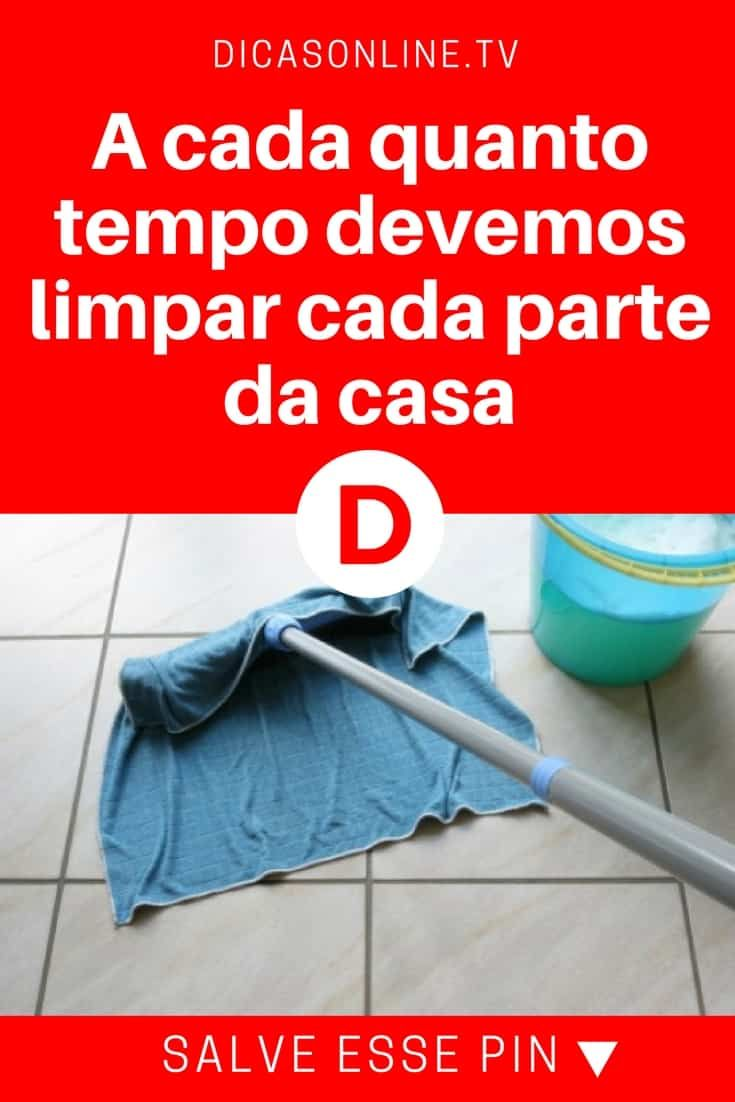 Manter a casa limpa | A cada quanto tempo devemos limpar cada parte da casa | Casa limpa sem estresse! ??