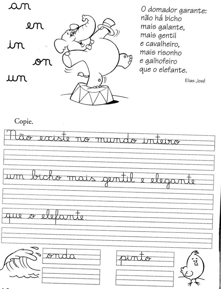 57 ATIVIDADES DE CALIGRAFIA – TREINO DA CALIGRAFIA   Cantinho do Educador Infantil