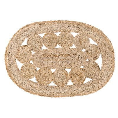 August Grove Flanagan Jute Oval Placemat