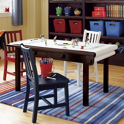 Shut the Door! A table with a roll of Paper ATTACHED?! Love. It. #TheLandOfNod